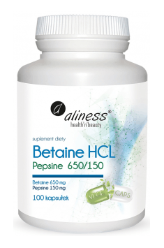 Betaine HCL Pepsine 650/150mg