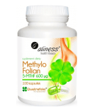 ALINESS Methyl Folate 5-MTHF 600mcg 100 caps.