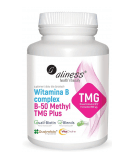 ALINESS Vitamin B Complex B-50 Methyl TMG Plus 100 caps.