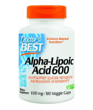 DOCTOR'S BEST Alpha Lipoic Acid 600mg 180 caps.