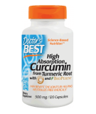 DOCTOR'S BEST High Absorption Curcumin 500mg 120 caps.