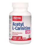 JARROW Acetyl L-Carnitine 250mg 60 caps.