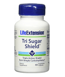 LIFE EXTENSION Tri Sugar Shield 60 caps.