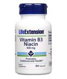 LIFE EXTENSION Vitamin B3 Niacin 500mg 100 caps.