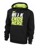 MUSCLE PHARM Pull Over Hoodie 450 (Black/Lime)