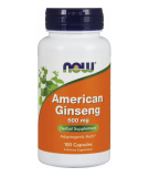 NOW FOODS American Ginseng 500mg 100 caps.