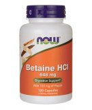 NOW FOODS Betaine HCl 648mg 120 caps.