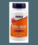 NOW FOODS Folic Acid 800mcg with Vitamin B-12 250 tab.