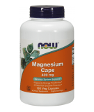 NOW FOODS Magnesium Caps 400mg 180 caps.