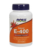 NOW FOODS Natural E-400 + Selenium 100 softgels