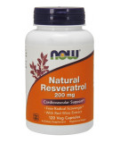 NOW FOODS Natural Resveratrol 200mg 120 kaps.