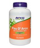 NOW FOODS Pau D'Arco 500mg 250 caps.