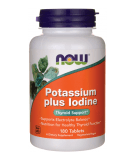 NOW FOODS Potassium + Iodine 180 tab.