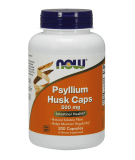 NOW FOODS Psyllium Husk Caps 500mg 200 caps.