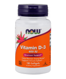 NOW FOODS Vitamin D-3 400 IU 180 softgels