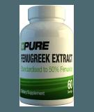 PURE Fenugreek Extract 60 caps.