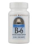 SOURCE NATURALS B-6 50mg 250 tab.