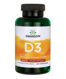 SWANSON Vitamin D-3 2000 IU 250 caps.